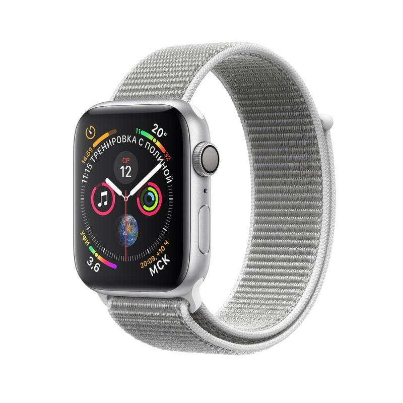Купить - Apple Apple Watch Series 4 (GPS) 40mm Silver Aluminium Case with Seashell Sport Loop