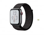 Фото -  Apple Watch Series 4 GPS + Cellular 44mm Space Gray Aluminum Case with Black Nike Sport Loop (MTXD2)