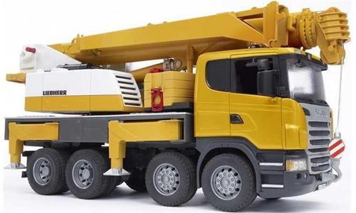 Купить -  Bruder автокран Scania - Liebherr большой (свет+звук) (03570)