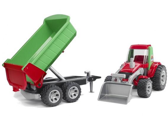 Купить -  Bruder трактор с погрузчиком + прицеп (20116)