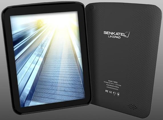 Купить -  Senkatel LikePad 8' IPS/Cortex A9 DC 1GHz/1GB/4GB/WiFi/BT/2xCam/Android 4.1/3G (T8002)