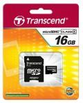 Фото -  Transcend MicroSDHC 16GB (Class 4) + SD адаптер
