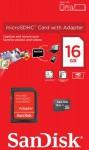 Фото -  SanDisk microSDHC 16GB + SD адаптер Class 4