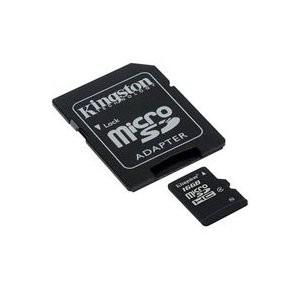 Купить -  Kingston MicroSDHC 16GB (Class 4) + SD адаптер