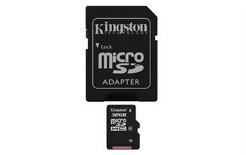 Купить -   Kingston MicroSDHC 32GB (Class 10) + SD адаптер