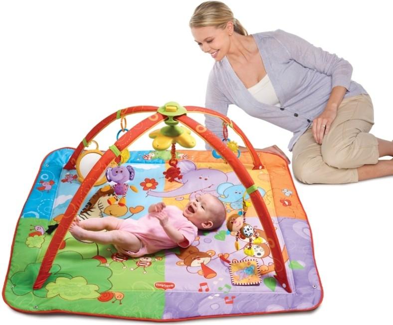 Купить -  Развивающий коврик Разноцветное Сафари Tiny Love (1201806830)