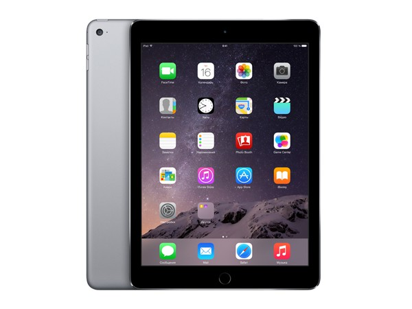 Купить -  Apple iPad Air 2 Wi-Fi 128GB Space Grey (MGTX2TU/A)
