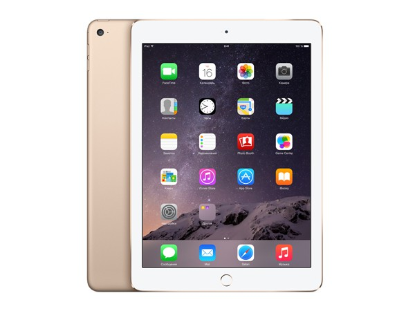 Купить -  Apple iPad Air 2 Wi-Fi 16GB Gold (MH0W2TU/A)