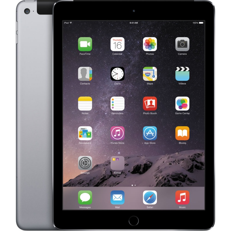 Купить -  Apple iPad Air 2 Wi-Fi + LTE 16GB Space Gray (MGGX2TU/A)