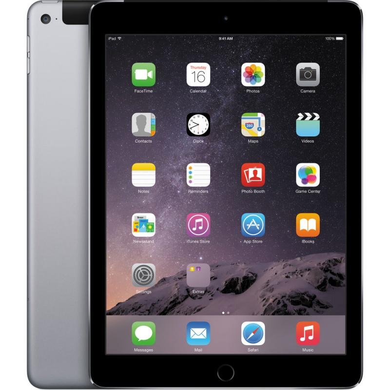Купить -  Apple iPad Air 2 Wi-Fi + LTE 16GB Space Gray (MGGX2TU/A)