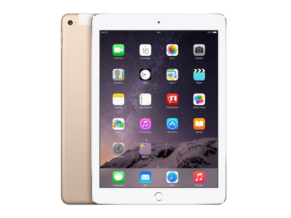 Купить -  Apple iPad Air 2 Wi-Fi + LTE 16GB Gold (MH1C2TU/A)