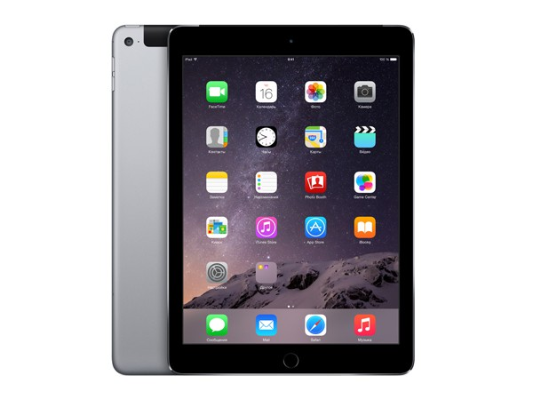 Купить -  Apple iPad Air 2 Wi-Fi + LTE 64GB Space Gray (MGHX2TU/A)
