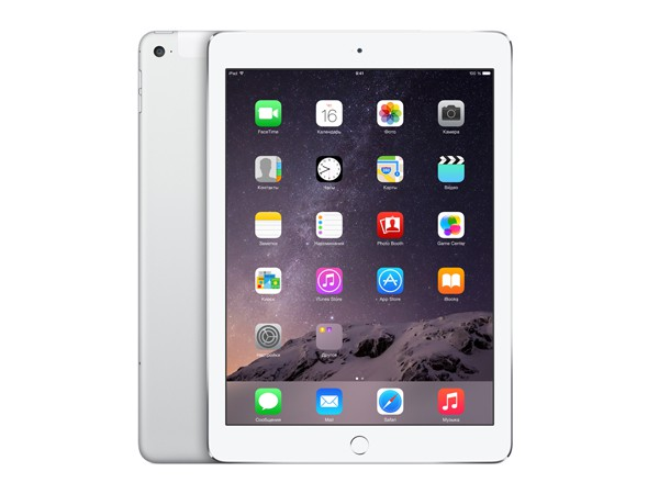 Купить -  Apple iPad Air 2 Wi-Fi + LTE 128GB Silver (MGWM2TU/A)