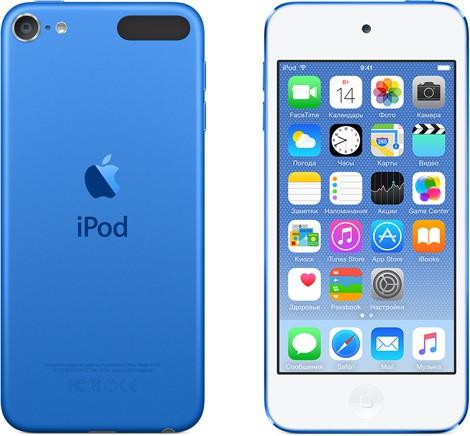 Купить -  Apple A1574 iPod Touch 64GB Blue (MKHE2)