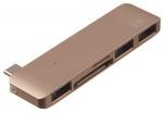 Фото - Apple Адаптер Kit USB-C Multiport Adaptor USB-C to 3*USB 3.0, SD/microSD reader (Gold) C5IN1GD